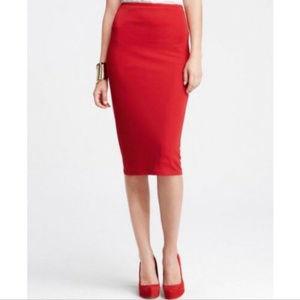 NWT Ann Taylor Matte Jersey Knit Pencil Skirt 8P